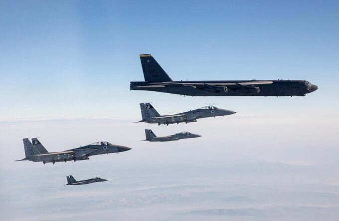 US B-52 bomber missions escorted by Israel, Saudi, Qatar warplanes