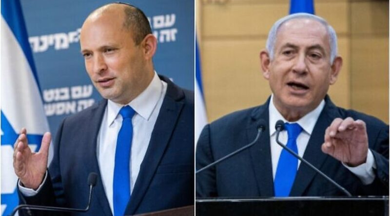 This image has an empty alt attribute; its file name is Bennet-Netanyahu-14.7.21-800x445.jpg