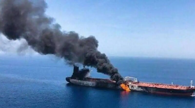 A US aircraft carrier and destroyer escort the Israel ship attacked by an Iranian drone to safety